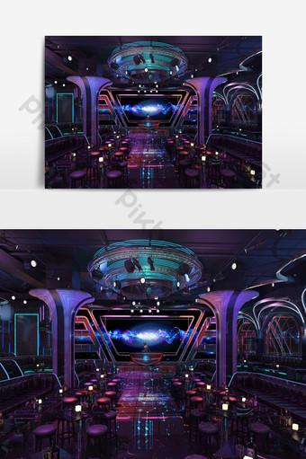 酒吧音樂會舞台設計模型效果圖 裝飾·模型 模板 MAX