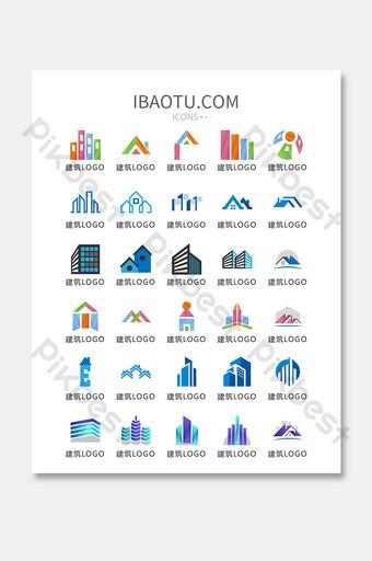 edificio de bienes raíces logo icono vector ui icono UI Modelo AI