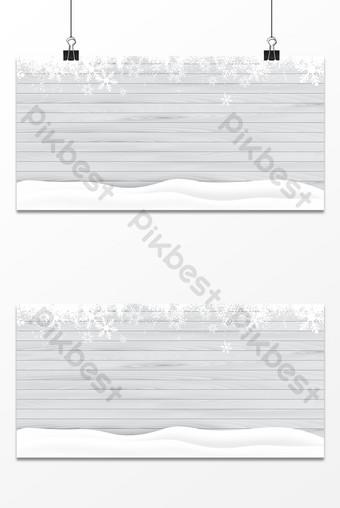 文藝小清新美麗雪花雪花簡潔展示板背景 背景 模板 PSD