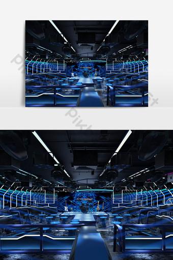 後現代酒吧舞台設計3d模型效果圖 裝飾·模型 模板 MAX