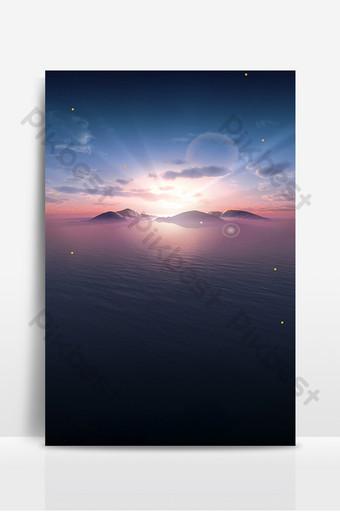 minimalist sea sunrise background design Backgrounds Template PSD