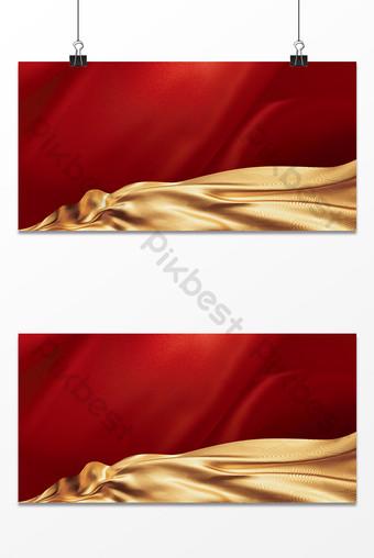 fondo de cartel de tablero de exposición de conferencia anual de negocios de moda de seda roja Fondos Modelo PSD