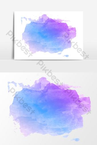 elementos de diseño de doodle azul púrpura de dibujos animados Elementos graficos Modelo AI