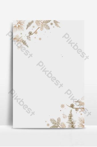 文藝小清新手繪植物簡潔葉花背景 背景 模板 PSD