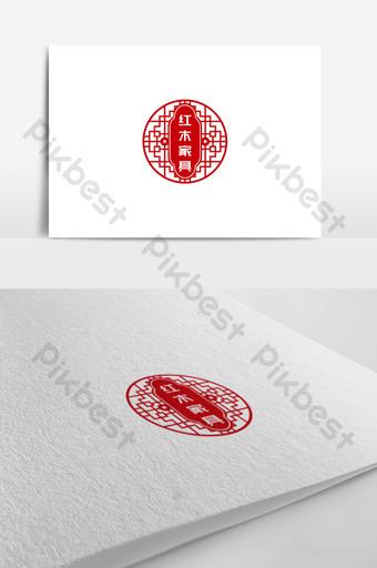 تصميم شعار متجر الأثاث الإبداعي الشخصي قالب CDR