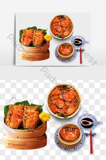 Yếu tố người sành ăn cua hấp Trung Quốc Thương mại điện tử Bản mẫu PNG