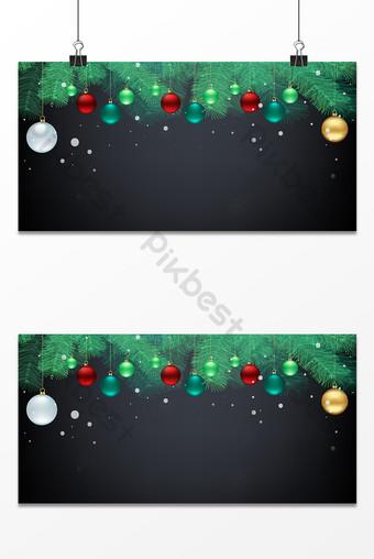 نسيج جميل عيد الميلاد شجرة الصنوبر هدية الكرة خلفية رمادية ملونة خلفيات قالب PSD