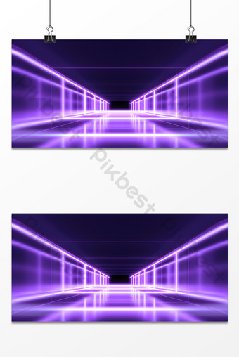 blue technology style space sense beautiful line modern exhibition board background Backgrounds Template PSD