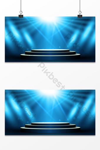 夢想光束聚光燈下舞台年會公司慶典背景 背景 模板 PSD