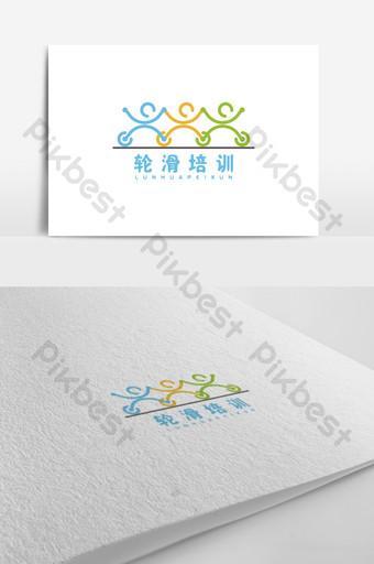 diseño de logotipo de entrenamiento de patinaje sobre ruedas simple y lindo Modelo AI