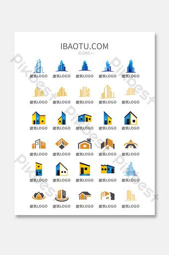 edificio moderno logo icono vector ui icono UI Modelo AI