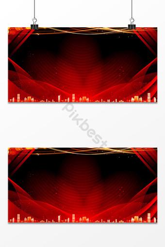 紅色舞台夢光商務年會海報背景圖片 背景 模板 PSD