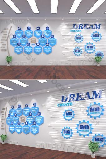 الأصلي شركة مجموعة مدرسة ثقافة الشركات جدار صورة إبداعية قالب AI