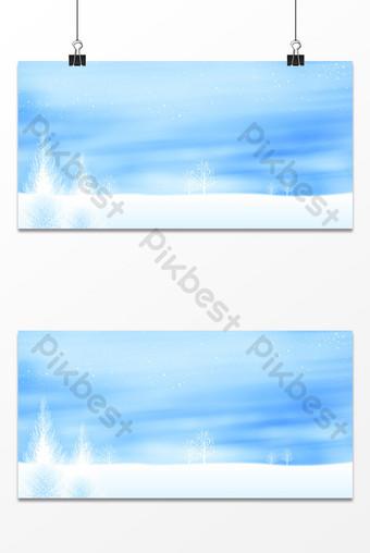 文藝小清新雪花冬天雪簡潔朦朧背景 背景 模板 PSD