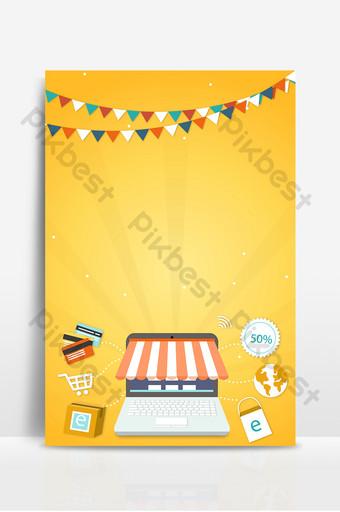 كرتون الإنترنت سوبر ماركت الترويج السفر إلى الخارج عطلة خلفية البطاقة المصرفية خلفيات قالب PSD