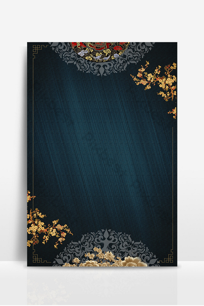 Chinese Style Background Wall Advertising Design Background