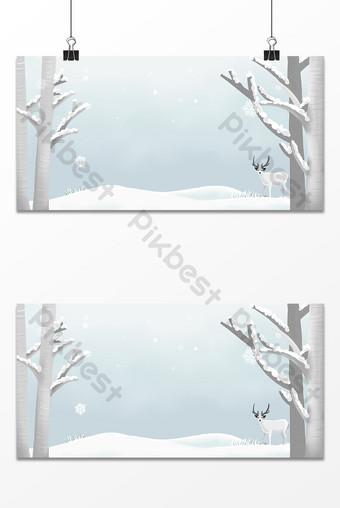 fondo de ilustración de dibujado a mano nieve caída de invierno Fondos Modelo PSD