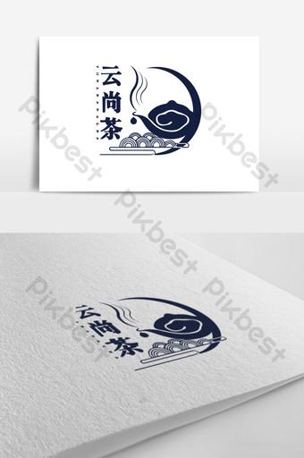 diseño de logotipo de té de estilo chino retro Modelo AI