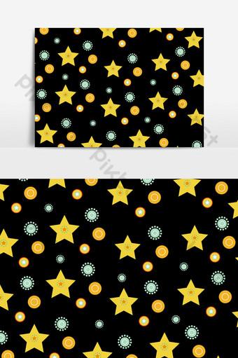 五角星底紋裝飾元素 元素 模板 PSD
