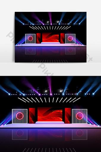 豬年舞台設計3D模型 裝飾·模型 模板 MAX