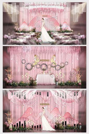 الوردي الحلو سعيد رمز موضوع تأثير الزفاف الصورة الديكور والنموذج قالب PSD