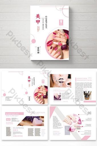 Hình học Hình học Beauty Nail Club Brochure Bản mẫu AI