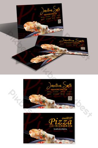 Conception de cartes de visite de pizza à la mode Modèle PSD