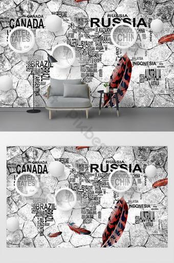 北歐簡約水泥牆英文字母背景 裝飾·模型 模板 PSD