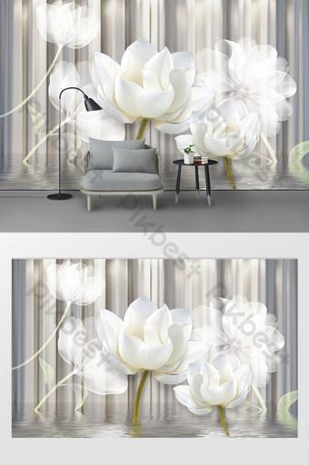 dinding latar belakang relief phantom putih modern yang indah Dekorasi dan model Templat PSD