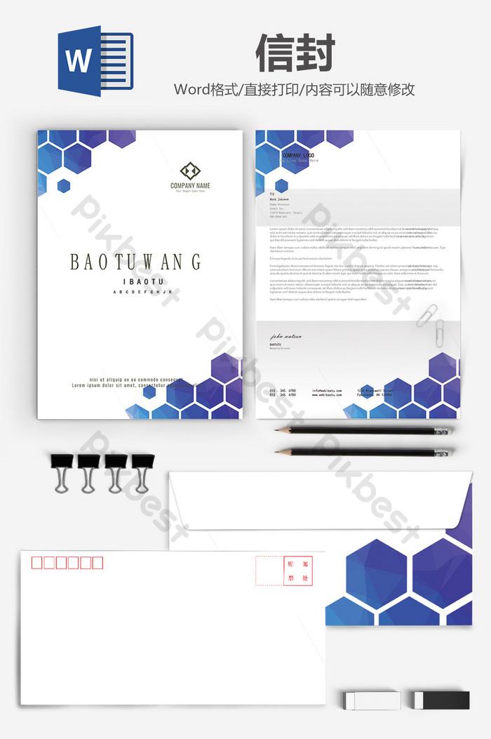 prosty i stylowy biznes koperta list papierowy tło słowo szablon