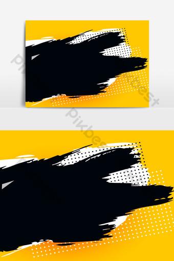 elemento de textura de trazo de mancha apenada naranja rasgada Elementos graficos Modelo AI