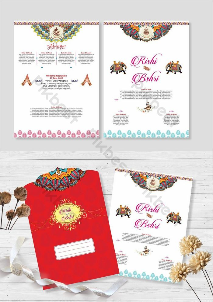 Royal Indian Wedding Invitation Template Cdr Free Download