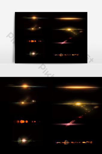 金色光暈光效果射線元素圖 元素 模板 PSD