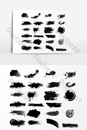 ضربات بسيطة الحبر مجانا ملاحظة تنزيل صور PNG قالب PSD