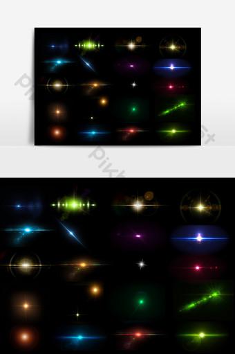 紋理各種光效果自由元素 元素 模板 PSD