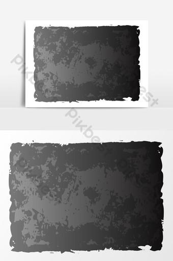 黑色紋理底框邊框效果元素 元素 模板 PSD
