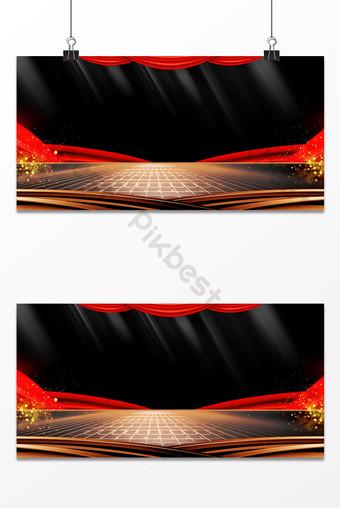 imagen de fondo de la fiesta de negocios del escenario de la cortina roja de la textura negra Fondos Modelo PSD