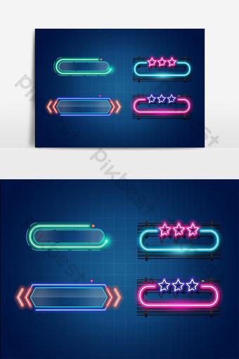Elementy dekoracyjne obramowania światła wektor Elementy graficzne Szablon AI