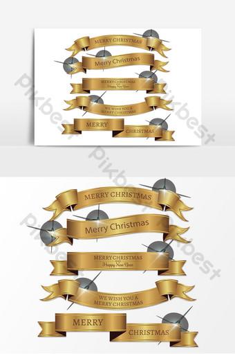 Ngày lễ vàng và bạc dải ngang màu nhãn vector minh họa Công cụ đồ họa Bản mẫu AI