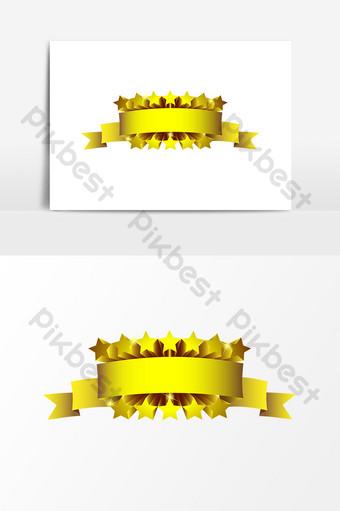 金色五角星裝飾元素設計 元素 模板 AI