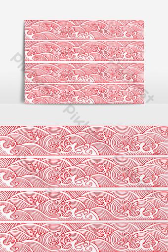 紋理的時尚日本圖案底紋矢量圖 元素 模板 PNG