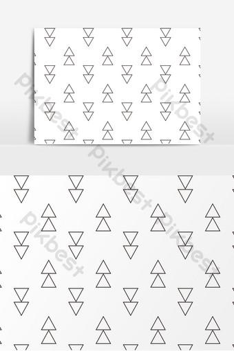 簡單的矢量黑線無縫拼接底紋 元素 模板 AI