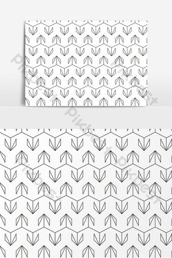 簡單的矢量黑線無縫拼接底紋下載 元素 模板 AI