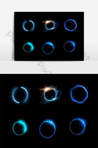 手繪圓光效果元素 元素 模板 AI