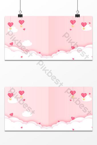 dibujos animados dibujados a mano pequeño fresco hermoso papel cortado amor nube fondo Fondos Modelo PSD