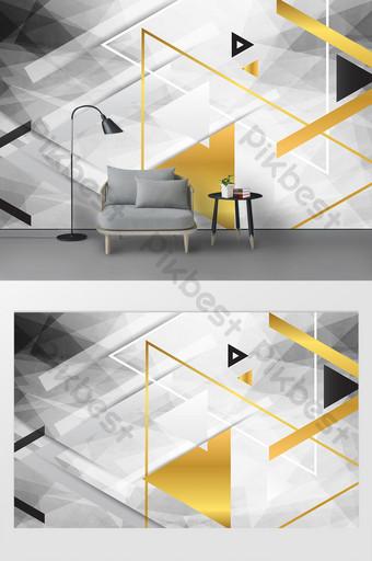現代幾何客廳臥室背景牆 裝飾·模型 模板 PSD