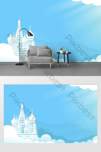 الإبداعية ناحية رسم فن الكتابة على الجدران لون الكرتون قلعة صافي جدار خلفية حمراء الديكور والنموذج قالب PSD