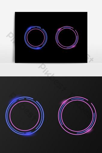 elemento de borde de comercio electrónico de sombra de luz de neón Elementos graficos Modelo PSD
