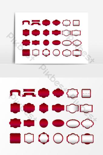 vector elemento de diseño de borde rojo Elementos graficos Modelo AI