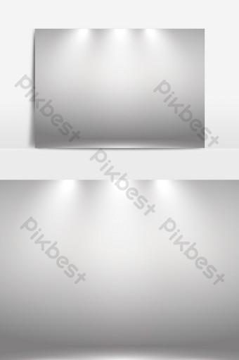 展覽館聚光燈照明效果ai矢量元素 元素 模板 AI